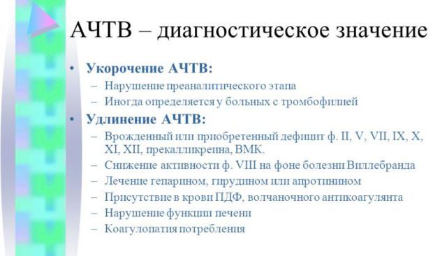АЧТВ: что это такое? норма в анализе крови, причины пониженного и повышенного